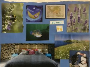 Image of Oakleaf client's bedroom wall collage