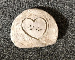 Image of Oakleaf client's clay heart