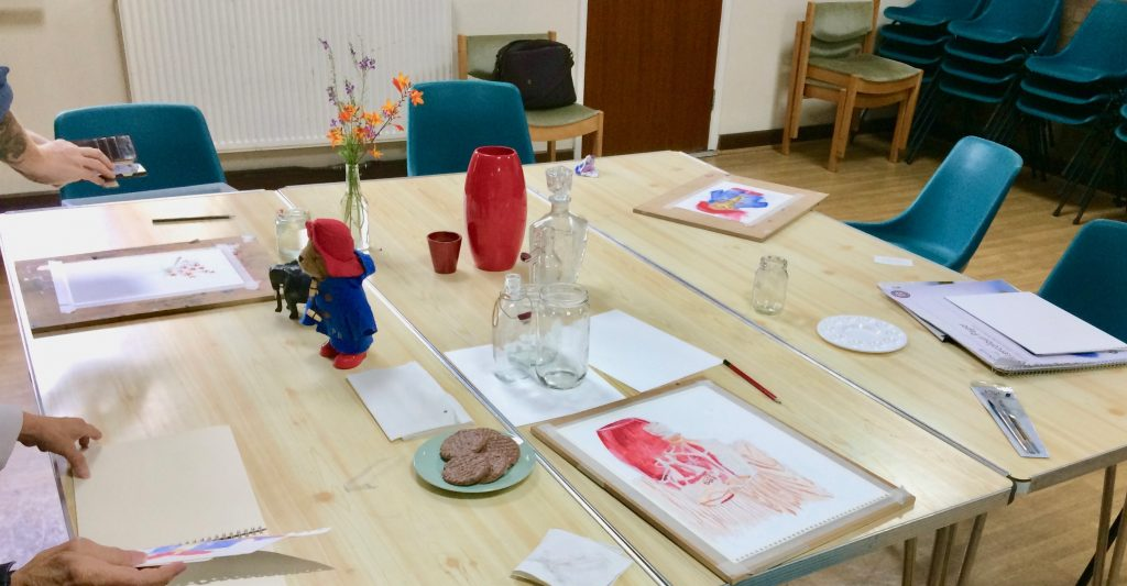 Image of creativity workshop table